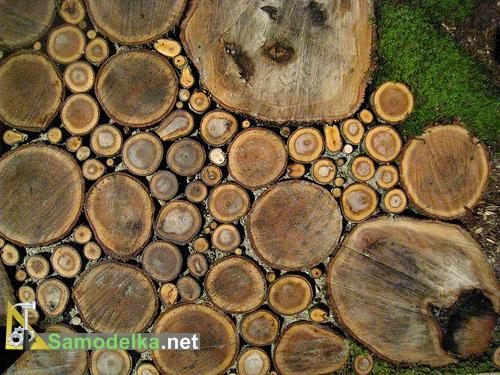 дорожки на даче из дерева
