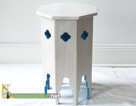 самодельный восьмиугольный марокканский столик