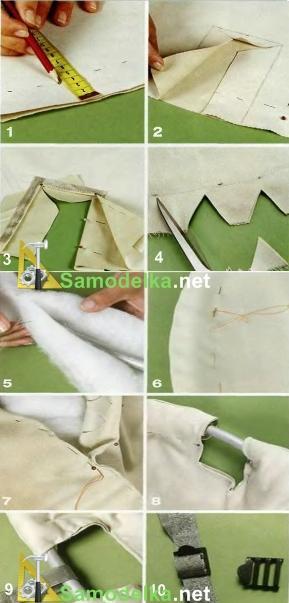 Как сделать гамак - люльку своими руками