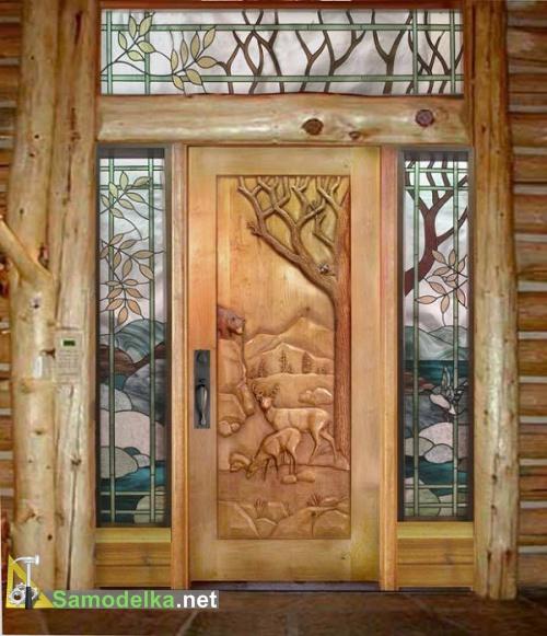 резные деревянные двери художника Рэмси