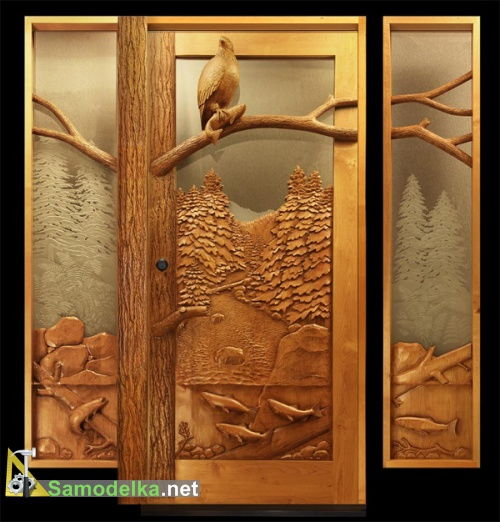 резные двери из дерева мастера Рэмси