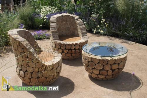 Садовая мебель своими руками с фото