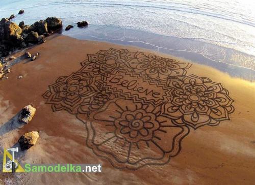 Рисунки на песке Андреса Амадора - вера