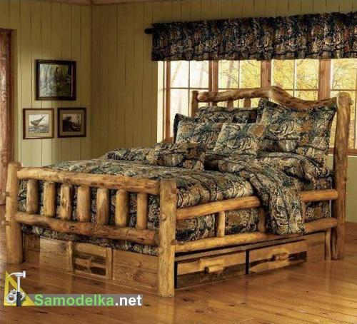 кровать из бревна своими руками фото 3