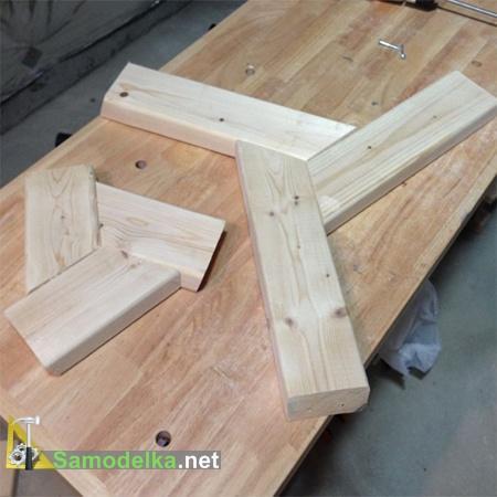 верхнее и нижнее основание стола