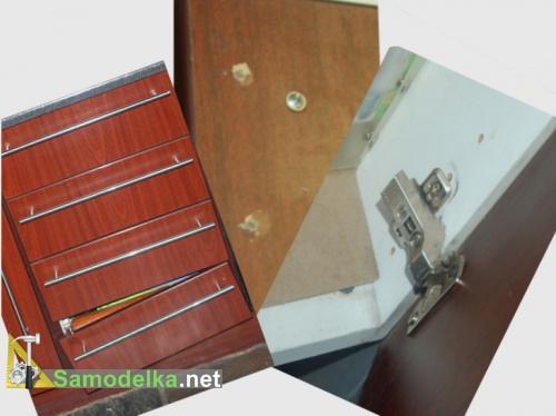 Ремонт креплений выдвижных ящиков и петель корпусной мебели своими руками