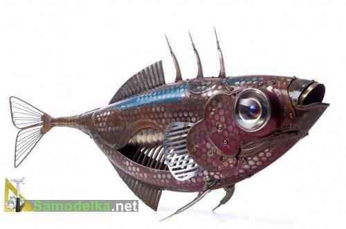 Металлическая рыбка мастера Мартине
