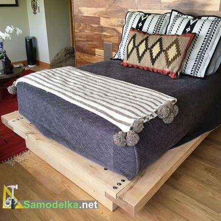 Самодельная двуспальная кровать готова