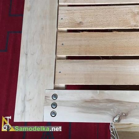 Монтаж ламелей на раму кровати