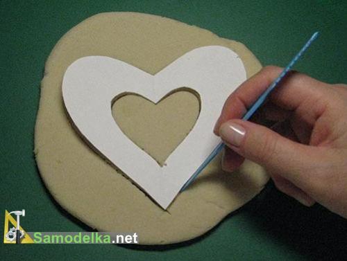 изготовление валентинки соленое сердце на лоскутке