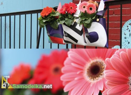 сумки для подвешивания цветов - алтернатива балконным горшкам