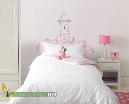 Рисованное изголовье для детской кровати