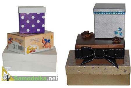 делаем подарочные коробки из обыкновенных