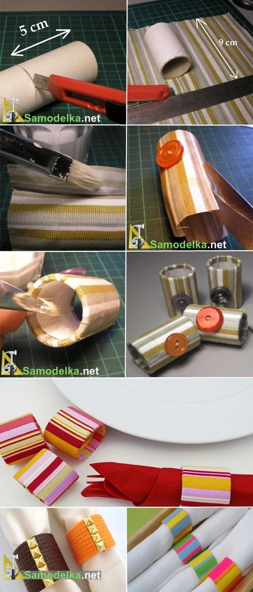 как сделать держатели для салфеток для сервировки стола