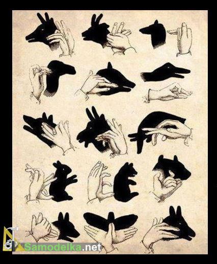 как делать тени руками