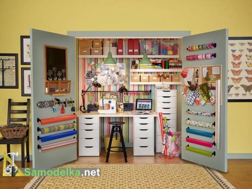 мастерская в стенном шкафу