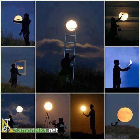 Как сфотографироваться с луной