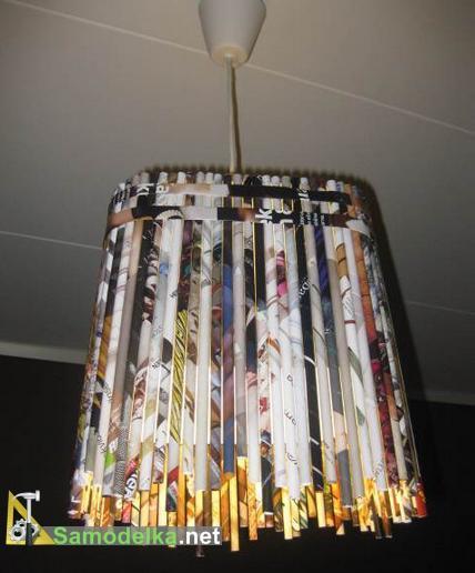 Как сделать лампу из бумаги