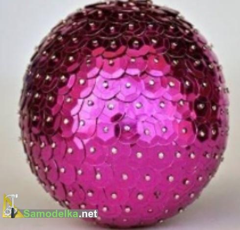 Оригинальный елочный шарик своими руками