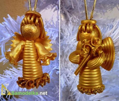 два варианта ангелов из макарон
