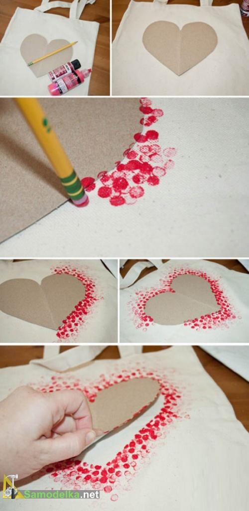 Рисунок на ткани своими руками - краска