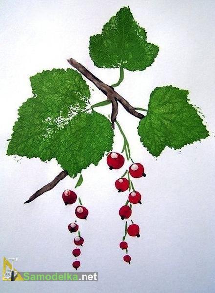как нарисовать кустарник смородины