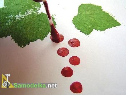 как нарисовать кустарник смородины ягоды
