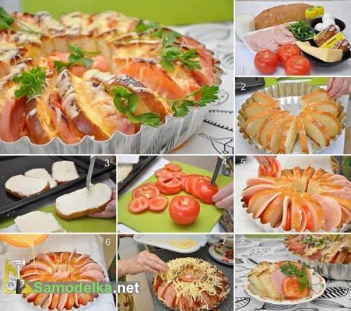 Бутерброды запеченные в духовке - приготовление