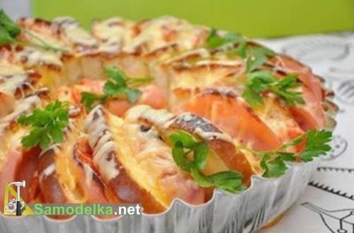 Бутерброды запеченные в духовке
