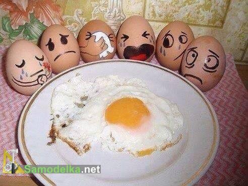 рожицы из яиц