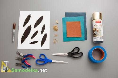 как сделать серьги из кожи своими руками - материалы