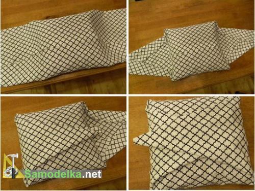 наволочка без швов - сворачиваем ткань