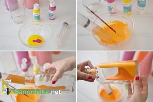 ваза из стеклянной бутылки своими руками изготовление