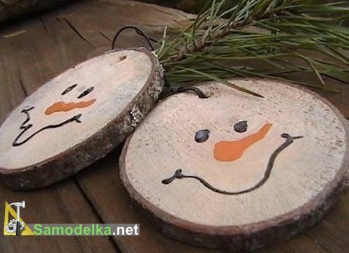 необычные снежинки заменяем на рожицы