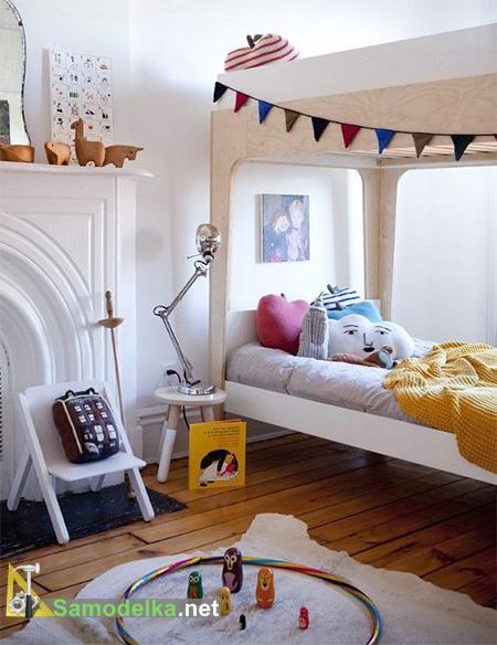 двухэтажная кровать из фанеры