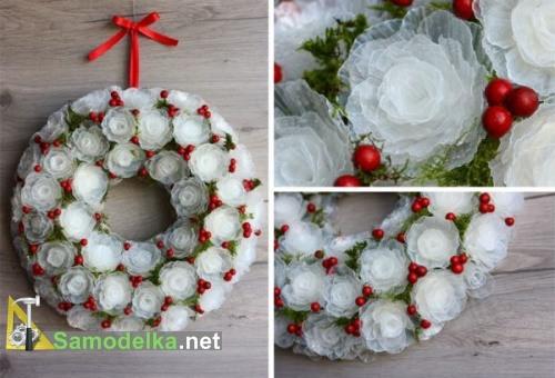 Венок из снежных цветов готов
