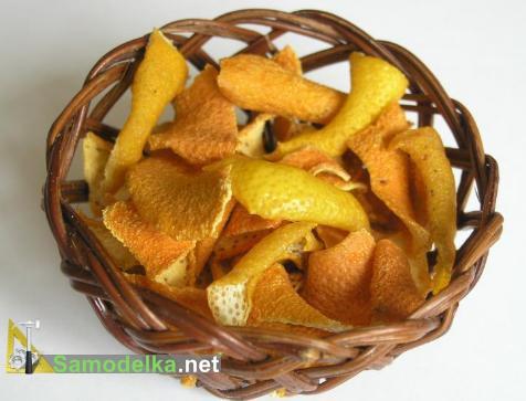 цедра из апельсиновых корок