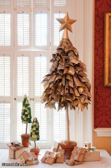 из чего можно сделать новогоднюю елку