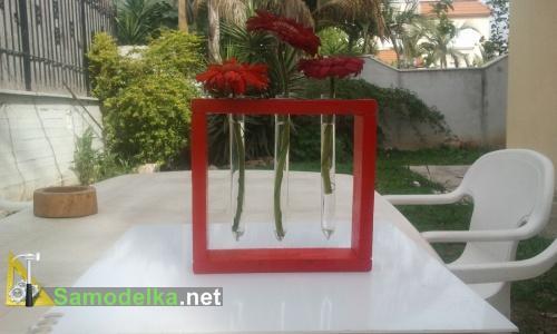 вазы для цветов из пробирок