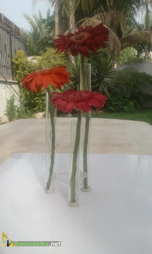 ваза из пробирки