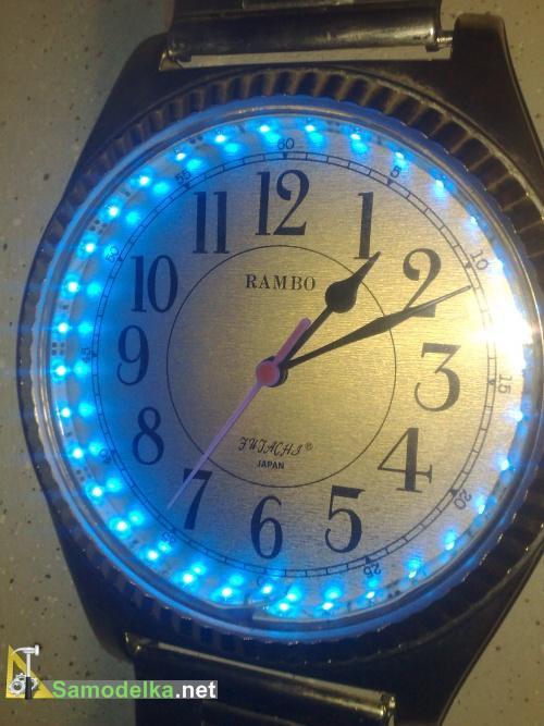 Подсветка старых часов с помощью свето диодной ленты