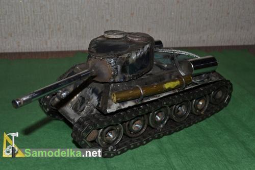Модель танка из металла своими руками 2