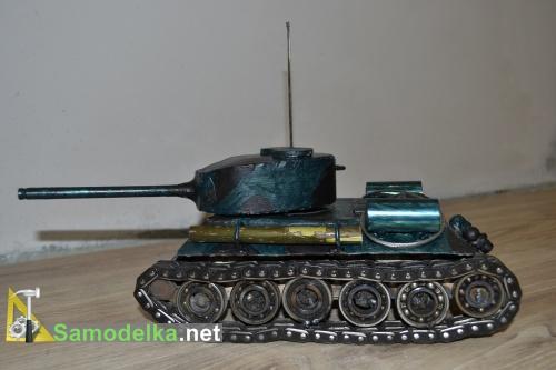 Модель танка из металла своими руками 10