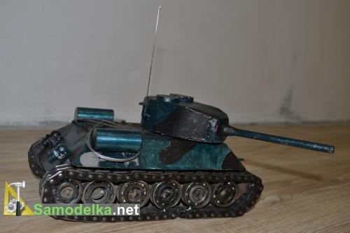 Модель танка из металла своими руками 9