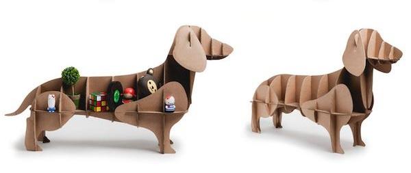 Самодельные животные из картона - собака
