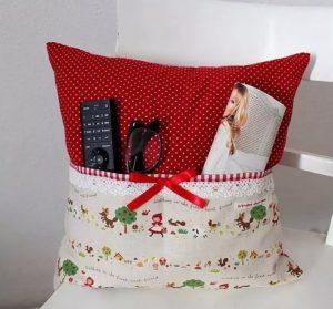 как сделать подушку с карманом для пульта