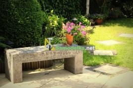 Бетонная скамья для сада