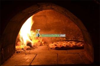 Дровяная дачная печь для пиццы