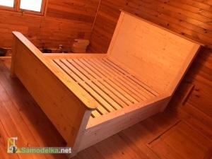 Как сделать из дерева большую кровать для дачи