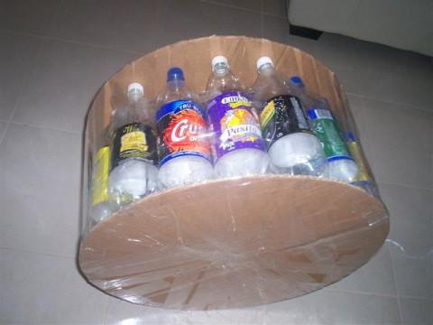 Пуфик из пластиковых бутылок мастер